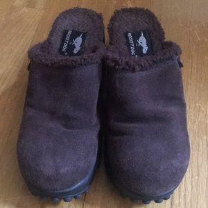 Rocket Dog brown mules shoes